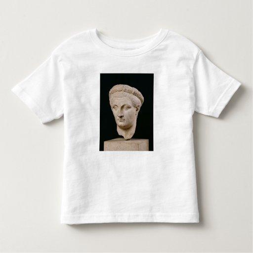 Busto del emperador Claudius de Thasos Playera De Bebé