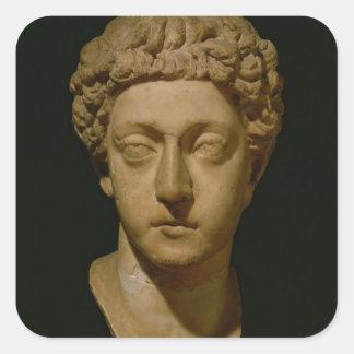Busto del emperador Commodus Pegatina Cuadrada