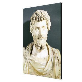 Busto del emperador Septimus Severus Impresion De Lienzo