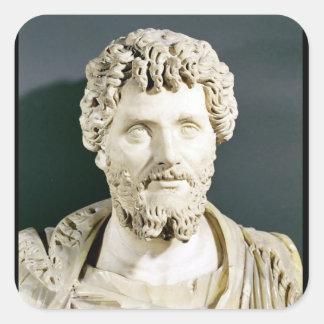 Busto del emperador Septimus Severus Calcomanías Cuadradass Personalizadas