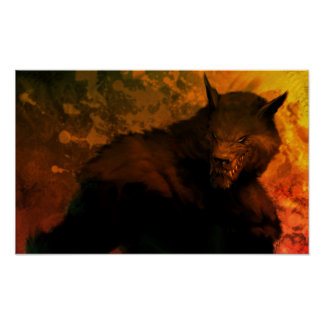 busto del hombre lobo posters