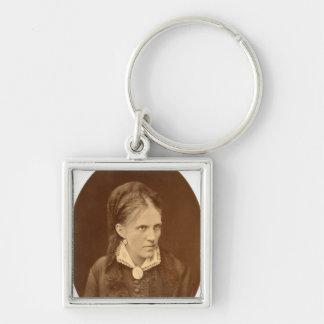 Busto del retrato de Ana G. Dostyevskaya Llavero Cuadrado Plateado