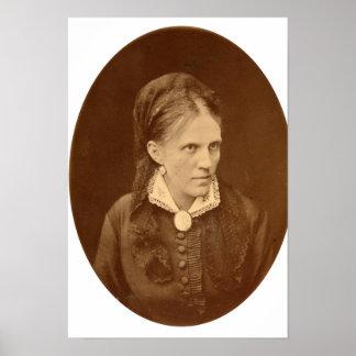 Busto del retrato de Ana G. Dostyevskaya Póster