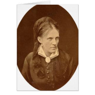 Busto del retrato de Ana G. Dostyevskaya Tarjeta De Felicitación