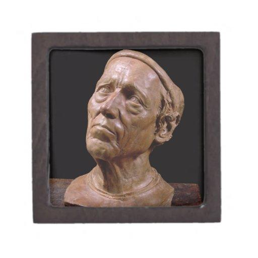 Busto del retrato de Girolamo Benivieni (cera) Cajas De Recuerdo De Calidad