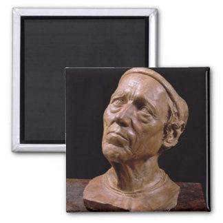Busto del retrato de Girolamo Benivieni (cera) Imán Cuadrado