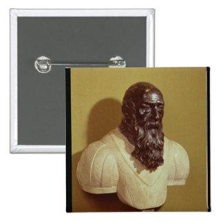 Busto del retrato de Jean de Bologna 1608 Pin Cuadrado