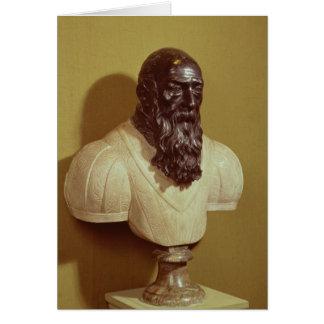 Busto del retrato de Jean de Bologna 1608 Tarjeta De Felicitación
