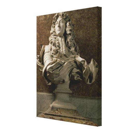 Busto del retrato de Louis XIV (1638-1715), 1665,  Impresiones En Lona Estiradas
