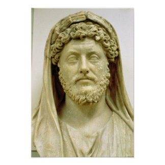 Busto del retrato de Marco Aurelius Póster