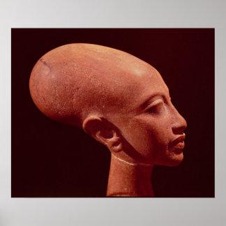 Busto del retrato de una hija de rey Akhenaten Póster