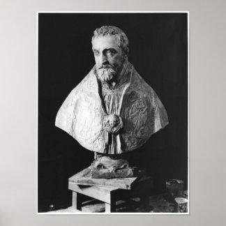 Busto del retrato del d'Escoubleau de Francois Póster