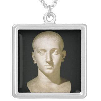 Busto del retrato del emperador Severus Alexander Collar Plateado