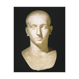 Busto del retrato del emperador Severus Alexander Impresión En Lienzo