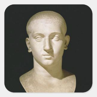 Busto del retrato del emperador Severus Alexander Pegatina Cuadrada