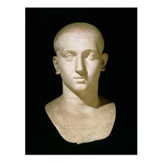 Busto del retrato del emperador Severus Alexander Postal