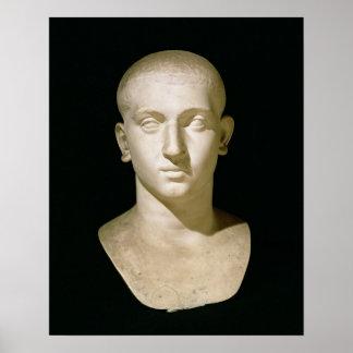 Busto del retrato del emperador Severus Alexander Póster