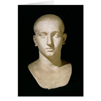 Busto del retrato del emperador Severus Alexander Tarjeta De Felicitación
