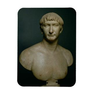 Busto del retrato del emperador Trajan (53-117 ANU Imán De Vinilo