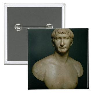 Busto del retrato del emperador Trajan (53-117 ANU Pins