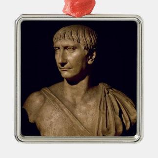 Busto del retrato del emperador Trajan Ornamento De Navidad