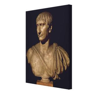 Busto del retrato del emperador Trajan Impresión En Lienzo