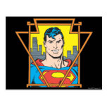 Busto del superhombre tarjeta postal