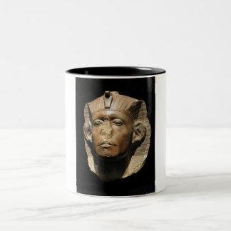 Busto egipcio taza de dos tonos