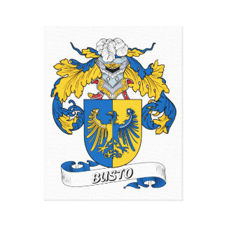 Busto Family Crest Canvas Print