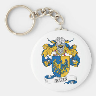 Busto Family Crest Keychain