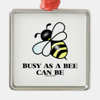 Busy As A Bee Can Be (Bee Drawing) Christmas Ornament