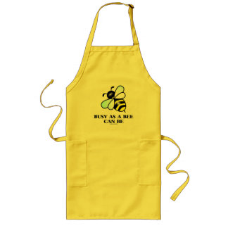 Busy As A Bee Can Be (Bee Saying) Long Apron