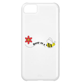 Busy as a Bee Happy Bees and Flowers Cartoon iPhone 5C Cover