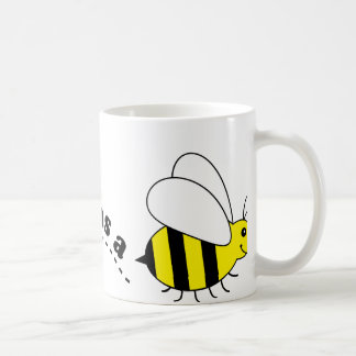 Busy as a Bee Happy Bees and Flowers Cartoon Coffee Mug