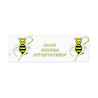 Busy As A Bee Honeybee Label