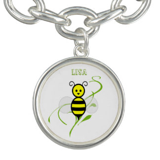 Busy As A Bee Honeybee Personalized Charm