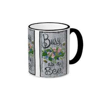 Busy as A Bee Ringer Coffee Mug