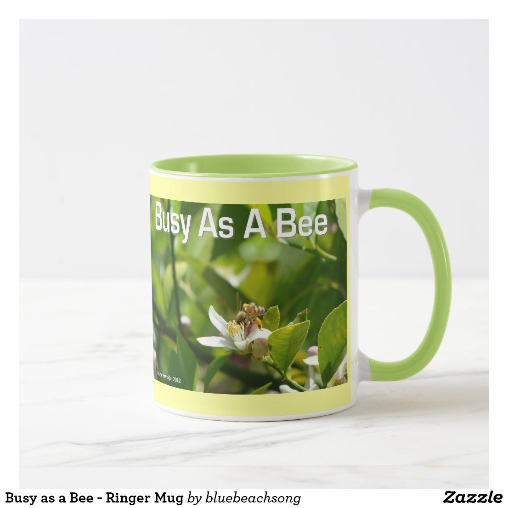 Busy as a Bee - Ringer Mug