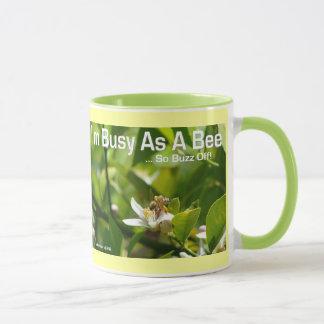 Busy as a Bee, So Buzz Off - Ringer Mug