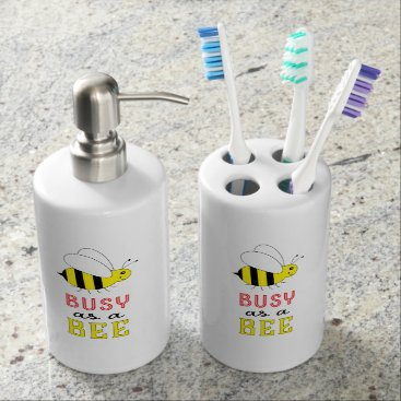 Busy as a Bee Soap Dispenser & Toothbrush Holder
