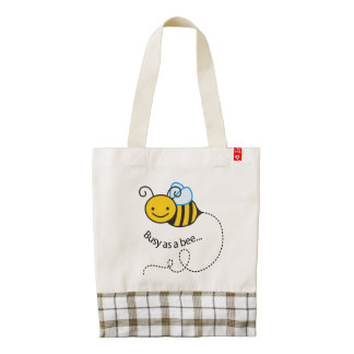 Busy as a  bee zazzle HEART tote bag