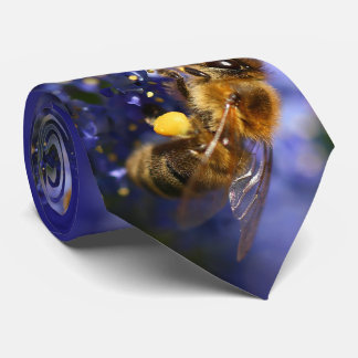 Busy as a Honeybee on the California Lilac Neck Tie