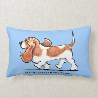 Busy Basset Hound Throw Pillow