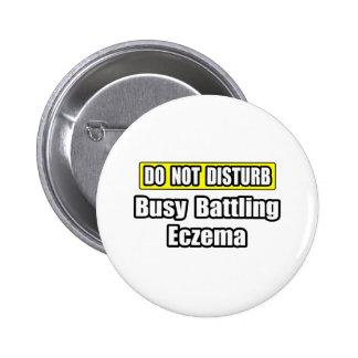 Busy Battling Eczema Button