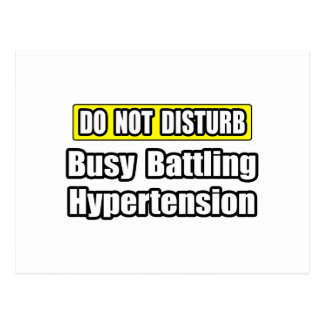 Busy Battling Hypertension Postcard