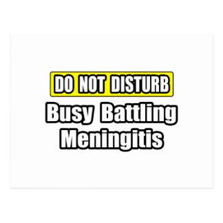 Busy Battling Meningitis Postcard