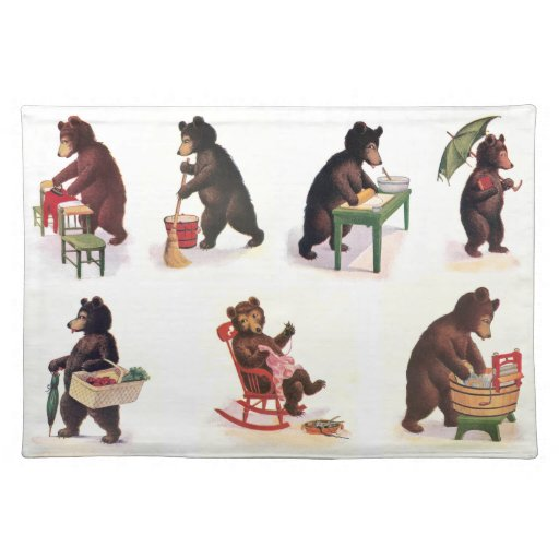 Busy Bears at Work from 1907 Placemats