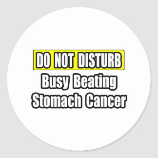 Busy Beating Stomach Cancer Classic Round Sticker