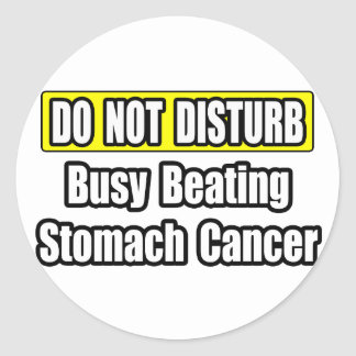 Busy Beating Stomach Cancer Round Stickers