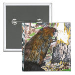 Busy Beaver 2 Inch Square Button